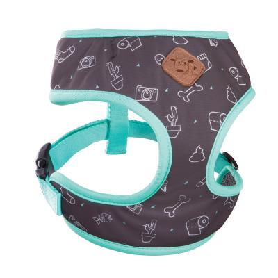 Kazoo Funky Soft Walking Harness Doodles Puppy 21cm Neck x 25-32cm Girth For Dogs