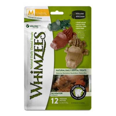 Whimzees Dental Alligator Medium Treat For Dogs 12-18kg 12 Pack 360gm