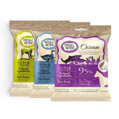 Wishbone Multi Flavour Grain Free Dry Dog Food 3 Pack Sample 180gm