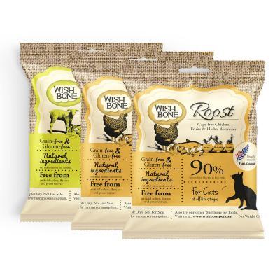 Wishbone Multi Flavour Grain Free Dry Cat Food 3 Pack Sample 180gm