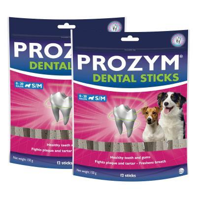 Prozym Dental Sticks Small/Medium For Dogs Under 20kg 12 Pack x 2