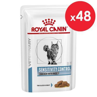 Royal Canin Veterinary Diet Feline S/O Sensitivity Control Pouch Wet Cat Food 85gm x 48 (BX99T)