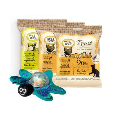 KONG Bat-A-Bout Flicker Firefly Flashing Catnip Toy With Wishbone Multi Flavour Grain Free Dry Cat Food 3 Pack Sample 180gm