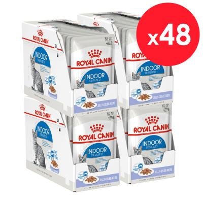 Royal Canin Indoor Sterilised Adult In Jelly Pouches Wet Cat Food 85g x 48
