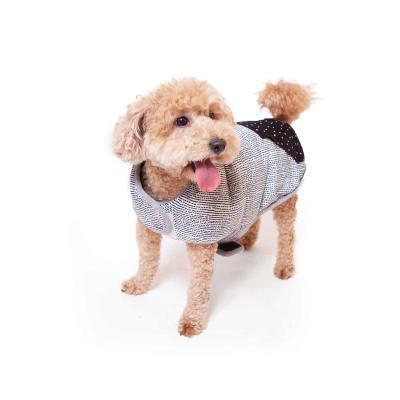 Kazoo Lamington Reversible Snuggle Dog Coat Black/White Intermediate 53cm