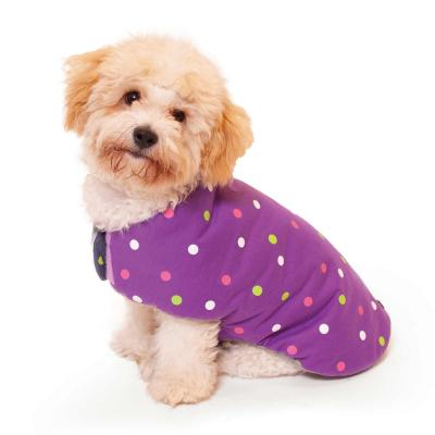 Kazoo Sprinkles Reversible Snuggle Dog Coat Purple/Grey Large 59.5cm