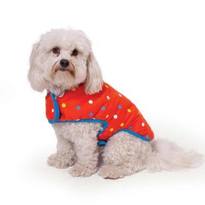 Kazoo Sprinkles Reversible Snuggle Dog Coat Red/Blue Medium 46.5cm