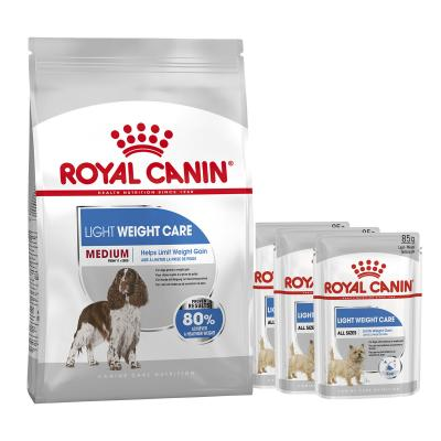 Royal Canin Bundle Light Weight Care Medium Adult Wet And Dry Dog Food