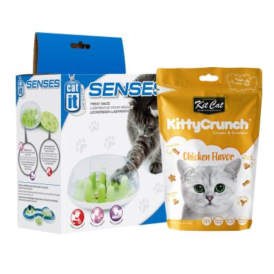 Easter Treatster Catit Treat Maze Dispenser Toy And Kit Cat Kitty Crunch Chicken Treat Pack For Cats 60gm