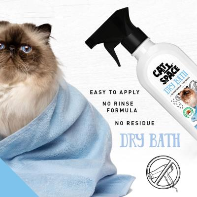 Cat Space Dry Bath Cleaner Waterless Grooming Shampoo For Cats 300ml