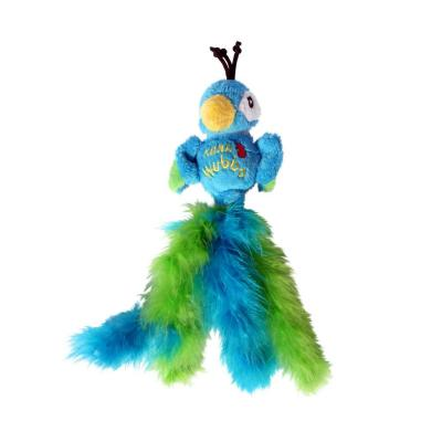 KONG Wubba Bird Assorted Characters Rattle Catnip Feather Toy For Cats