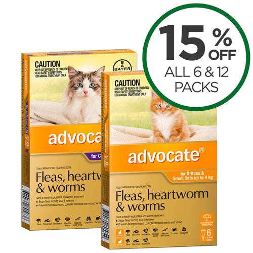 Advocate Cat 6 & 12 Packs