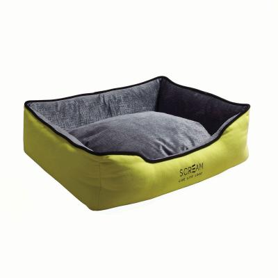 Scream Bolster Loud Green Cushion Basket Bed Medium For Cats And Dogs