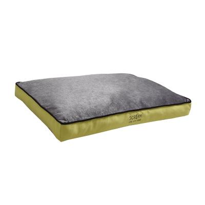Scream Gusset Loud Green Soft Cushion Mattress Bed Small For Dogs