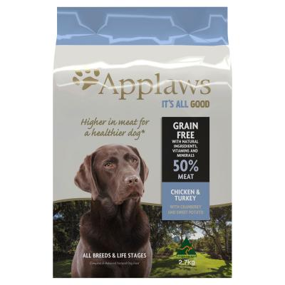 Applaws Chicken And Turkey With Cranberry And Sweet Potato Grain Free Natural Dry Dog Food 2.7kg