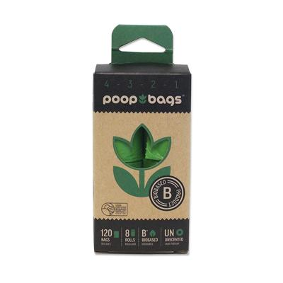 Poop Bags Eco Friendly Original Countdown Green For Dogs 8 Rolls 120 Bags