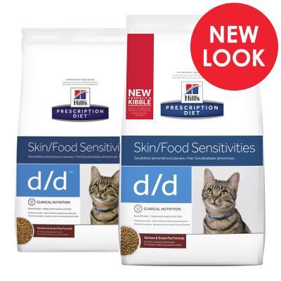 Hills Prescription Diet Feline d/d Skin/Food Sensitivities Venison & Green Pea Dry Cat Food 1.59kg (5350)