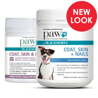 PAW By Blackmores Coat Skin & Nails Multivitamin Chews For Dogs 300gm