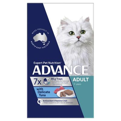 Advance Delicate Tuna Adult 1+ Years Tray Canned Cat Wet Food 85gm x 42