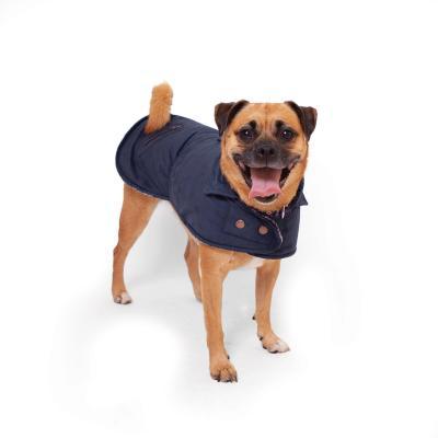Kazoo Blue Gum Dog Coat Navy XSmall 33.5cm