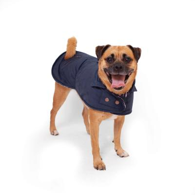 Kazoo Blue Gum Dual Collar Dog Coat Navy XSmall 33.5cm