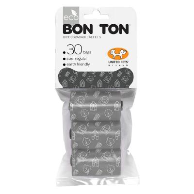 United Pets Biodegradable Bon Ton Poo Bags Grey For Dogs 30 Pack