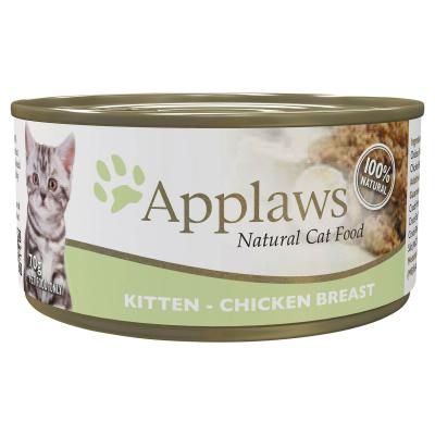 Applaws Kitten Chicken In Jelly Natural Canned Wet Cat Food 70g x 24