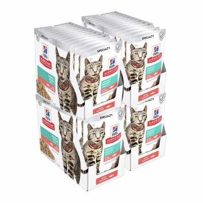 Hills Science Diet Adult Perfect Weight Salmon Pouches Wet Cat Food 85gm x 48