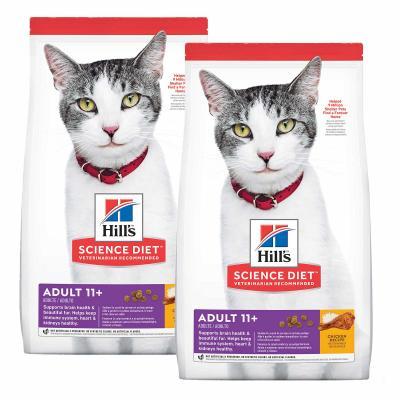 Hills Science Diet Chicken Recipe 11+ Mature/Senior Dry Cat Food 6.34kg