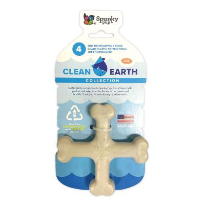 Spunky Pup Clean Earth Recyclable Crossbone Toy For Dogs