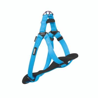 Kazoo Classic Nylon Reflective Walking Harness Aqua Small For Dogs 32-48cm Girth x 12mm