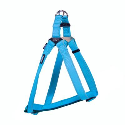 Kazoo Classic Nylon Reflective Walking Harness Without Chest Plate Aqua Medium For Dogs 42-68cm Girth x 15mm