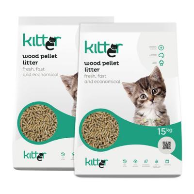 Kitter Wood Pellet Cat Litter 30kg