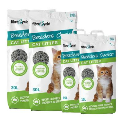 Breeders Choice Biodegradable Recycled Paper Litter For Cats 90L