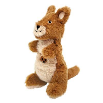 KONG Shakers Passports Kangaroo Medium Plush Rattle Squeak Toy For Dogs