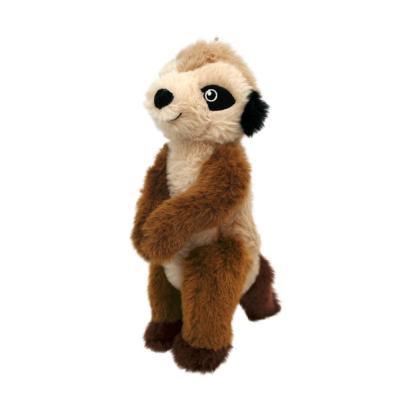 KONG Shakers Passports Meerkat Medium Plush Rattle Squeak Toy For Dogs