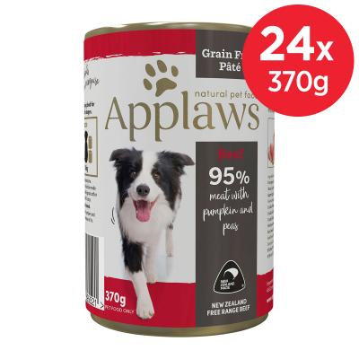 Applaws Beef With Pumpkin And Peas Grain Free Pate Natural Adult Wet Canned Dog Food 370gm x 24
