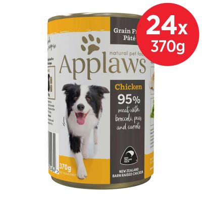 Applaws Chicken With Broccoli Peas Carrot Grain Free Pate Natural Adult Canned Wet Dog Food 370gm x 24