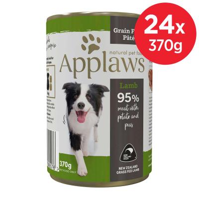 Applaws Lamb With Potato And Peas Grain Free Pate Natural Adult Canned Wet Dog Food 370gm x 24