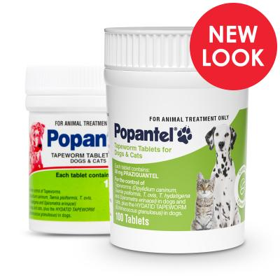 Popantel Tapeworm Tablets For Dogs And Cats 100 Tablets