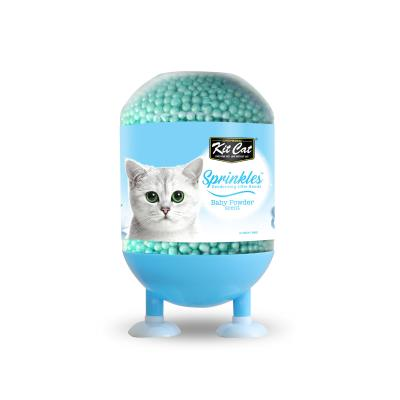 Kit Cat Sprinkles Deodorising Beads For Litter Baby Powder For Cats 240gm