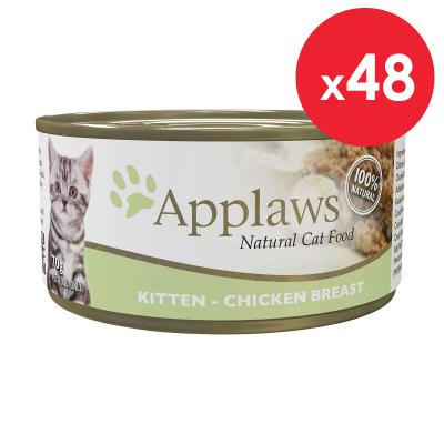 Applaws Kitten Chicken In Jelly Natural Canned Wet Cat Food 70g x 48