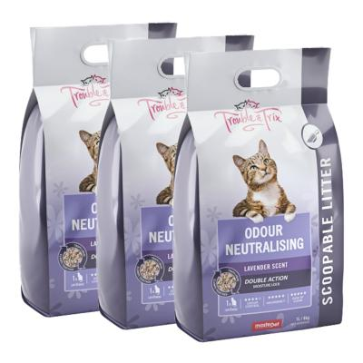 Trouble & Trix Lavender Clumping Scoopable Clay Litter For Cats 20.1kg