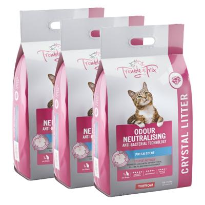 Trouble & Trix Odour Neutralising Anti Bacterial Fresh Scent Crystal Litter For Cats 19.2kg