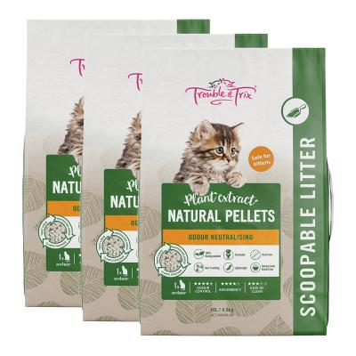 Trouble & Trix Plant Extract Natural Pellet Clumping Cat Litter 14.4kg